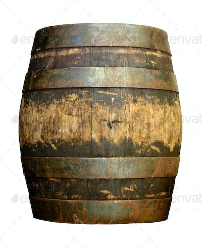 Isolated beer barrel
