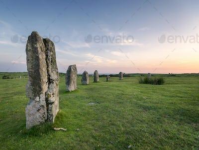 Hurlers Stone Circle in Cornwall