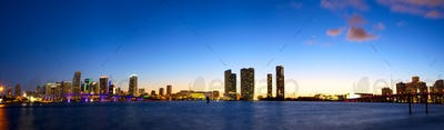 Downtown Miami panorama