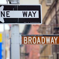 Broadway and One Way Street Signs
