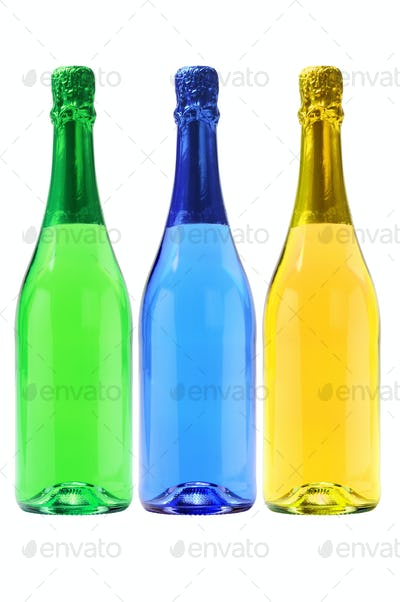 Three Bottles Of Carbonated Drinks