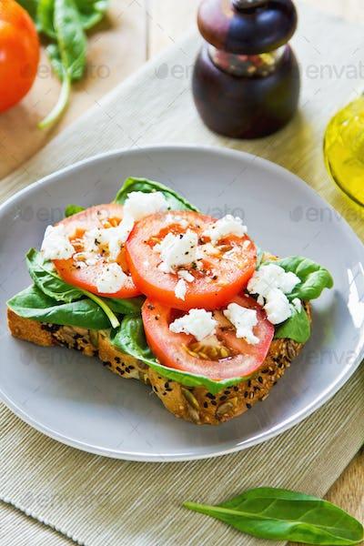 Feta and Spinach sandwich