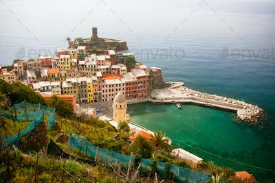 Vernazza At Midday In The Sun