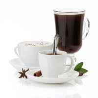 cup of coffee on white