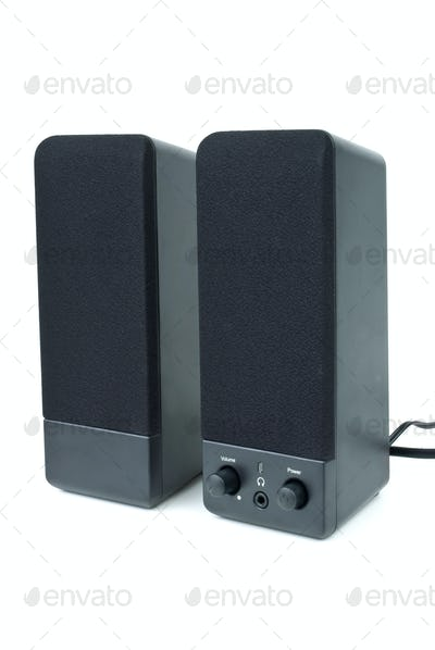 Cheap black computer speakers