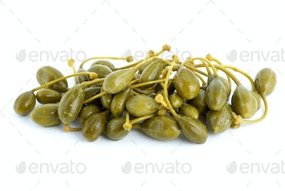 Small pile of marinated capers fruits