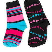 two pairs of colored socks