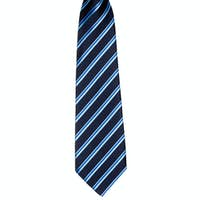 Stylish striped tie with an elastic band