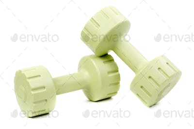 Two dumbbell isolated on white