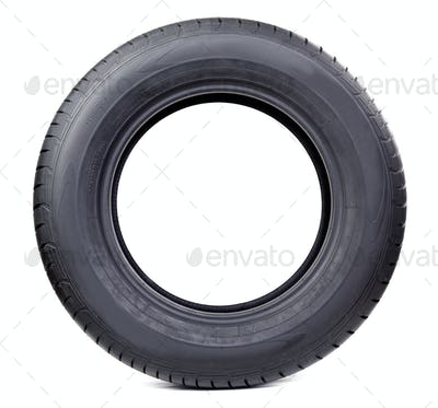 Isolated image of radial tire