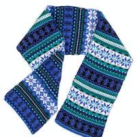 warm scarf with Scandinavian design