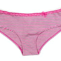 Colored women's striped panties