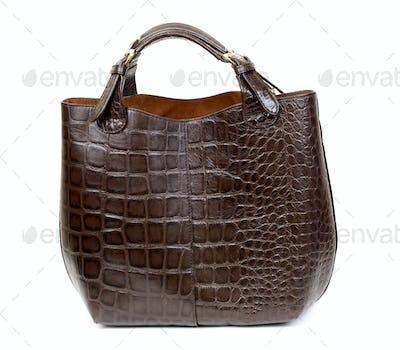 Luxury female handbag over white