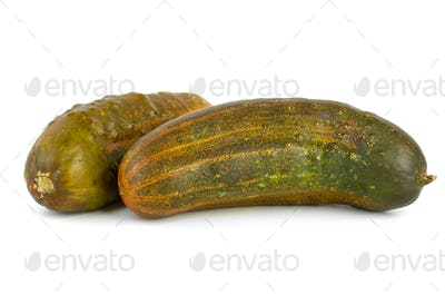 Two overripe cucumbers