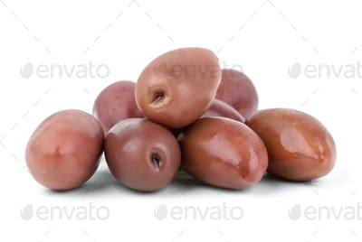 "Small pile of purple ""Kalamata"" olives"