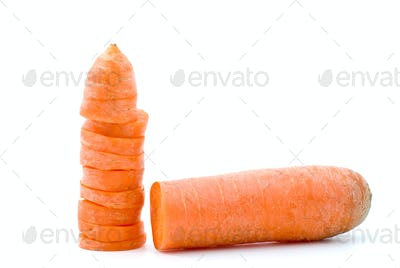 Half of carrot and few slices