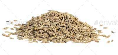 Spices: small pile of zeera seeds