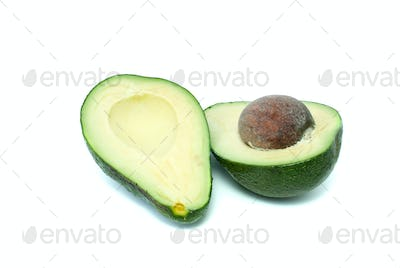 Two avocado halves
