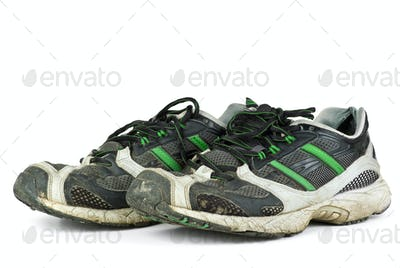 Pair of worn sneakers