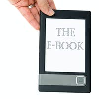 Hand hold e-book reader