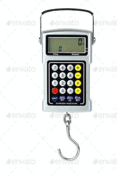 Digital fishhook scales with built-in calculator