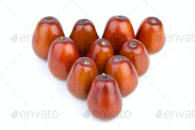 Ten ripe jujube berries
