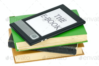Ebook reader and traditional paper books