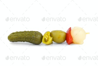 Vegetables on skewer