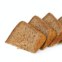 Few chunks of rye bread