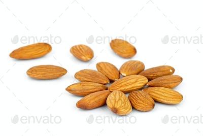 Few almonds in the shape of flower