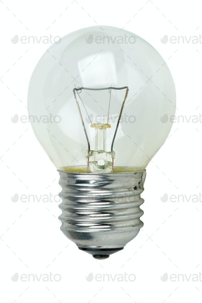 Small tungsten light bulb