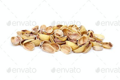 Some pistachio shells