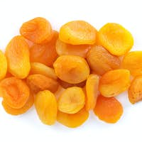 Small pile of dried apricots