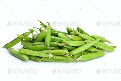 Pile of pea pods