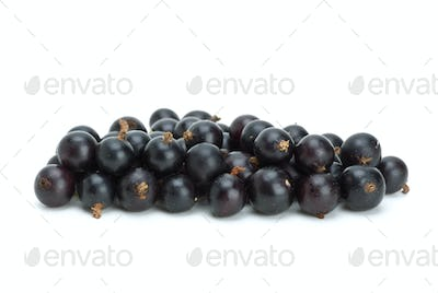 Small pile of blackcurrant berries