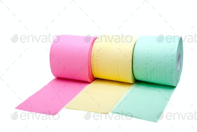 Three rolls of toilet paper
