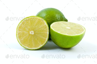 Limes. Whole and halves