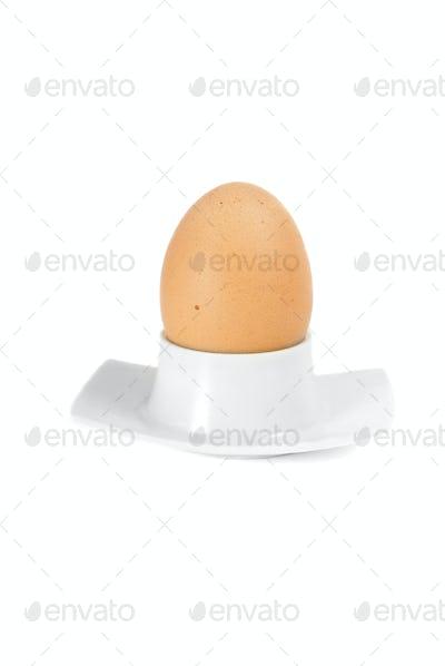 Egg in plastic eggcup
