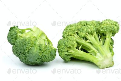 Two broccoli pieces