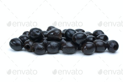 Some pitted black olives