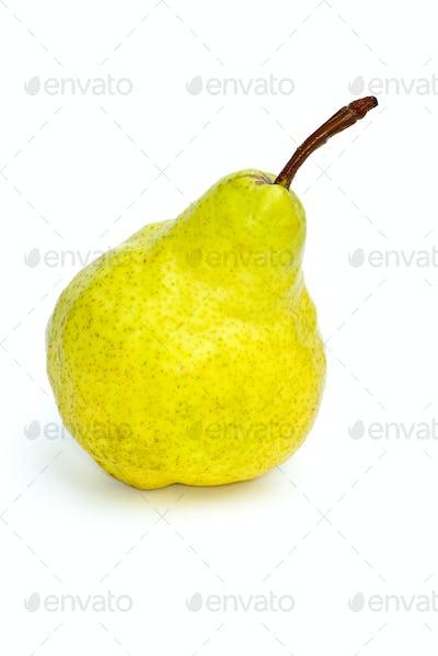 Single yellow-green pear