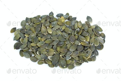 Some shelled pumpkin seeds