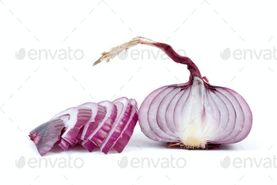 Half of purple onions and some slices