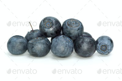 Closeup shot of some blueberries