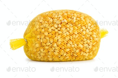 Raw corn grains package for popcorn making