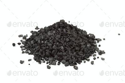 Heap of black sea salt