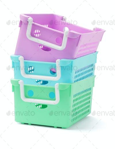 Three Plastic Baskets