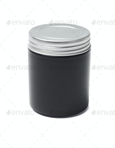 Black Cosmetic Container