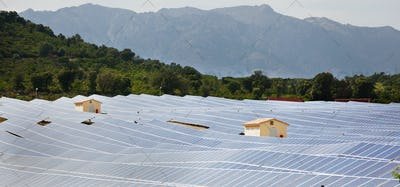 Solar power plant.