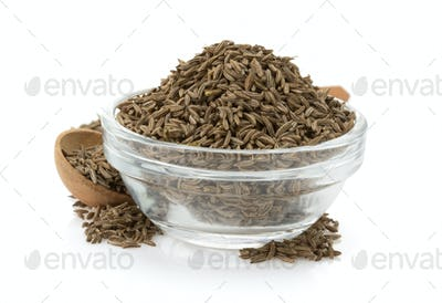 cumin seeds in bowl